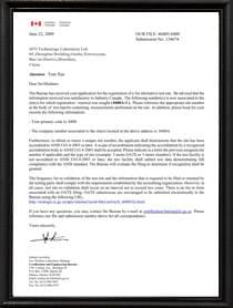 加拿大IC资质证书