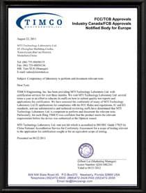 Timco 资质证书